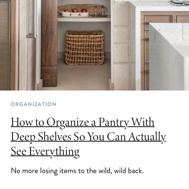 Let's get this settled once and for all. How to make the most of your deep pantry shelves! @dominomag